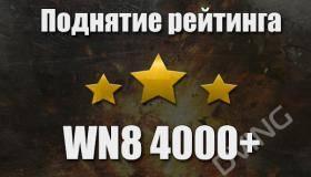 Поднятие рейтинга WN8 4000+