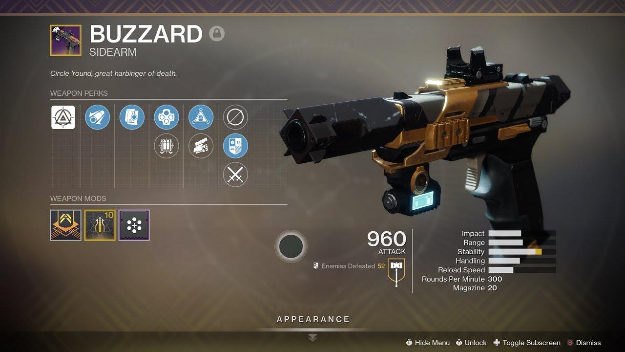 Buzzard sidearm