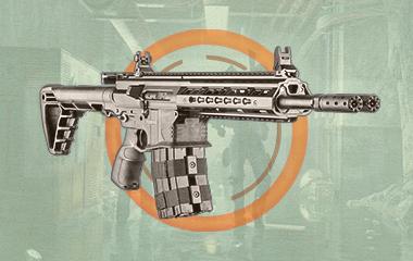Двуствольная винтовка Обжора