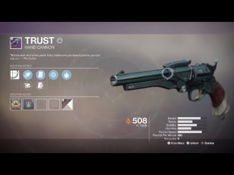 Trust Hand Cannon (15K Gambit Points)